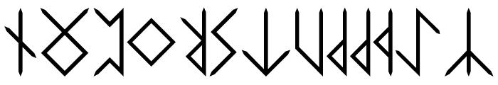 Elder-Futhark Font UPPERCASE