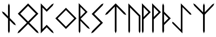 Elder-Futhark Font LOWERCASE