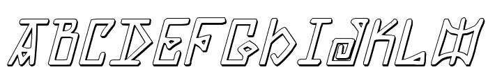 Elder Magic Shadow Italic Font LOWERCASE