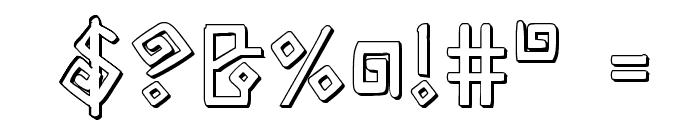 Elder Magic Shadow Font OTHER CHARS