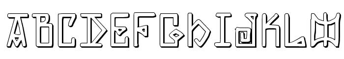 Elder Magic Shadow Font LOWERCASE