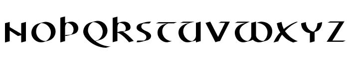 ElectrUnciale Font LOWERCASE