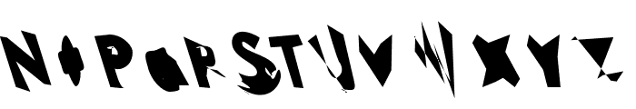 Electrical Snow Condensed Reverse Oblique Font UPPERCASE