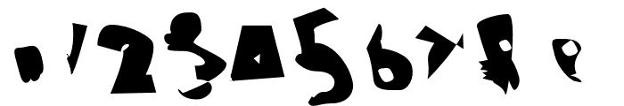 Electrical Snow ReverseOblique Font OTHER CHARS