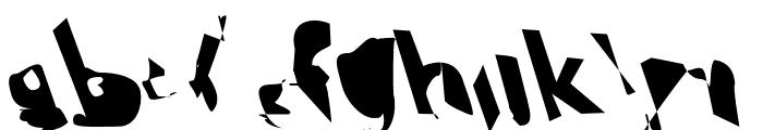 Electrical Snow ReverseOblique Font LOWERCASE