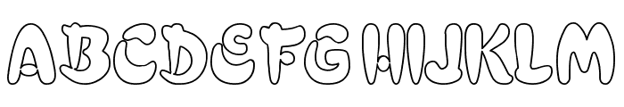 Electrik Hollow Font UPPERCASE