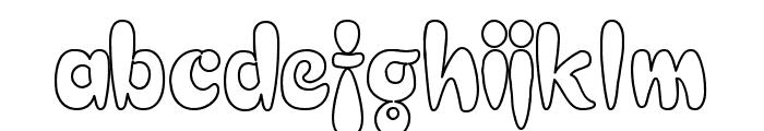 Electrik Hollow Font LOWERCASE
