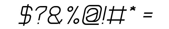 Electro Static Rain-Light Italic Font OTHER CHARS