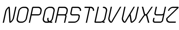 Electro Static Rain-Light Italic Font UPPERCASE