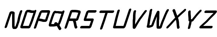 Electronic Black SuperItalic Font UPPERCASE
