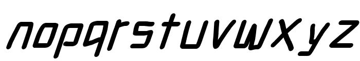 Electronic Black SuperItalic Font LOWERCASE