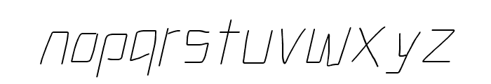 Electronic ExtraThin Italic Font LOWERCASE