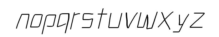 Electronic Light Italic Font LOWERCASE