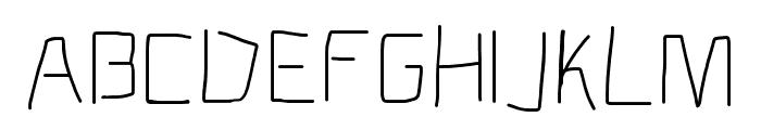 Electronic Light Font UPPERCASE