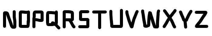 Electronic Thick Font UPPERCASE