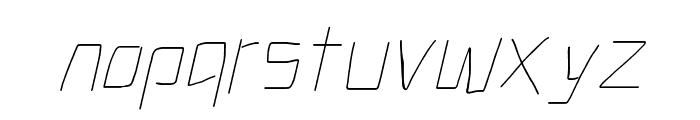 Electronic UltraThin Italic Font LOWERCASE