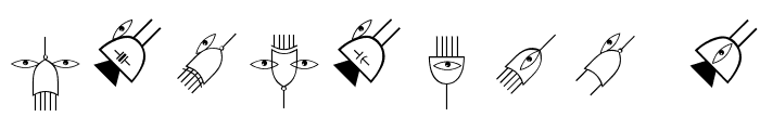 ElectronicFaces Font OTHER CHARS