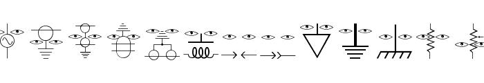 ElectronicFaces Font UPPERCASE