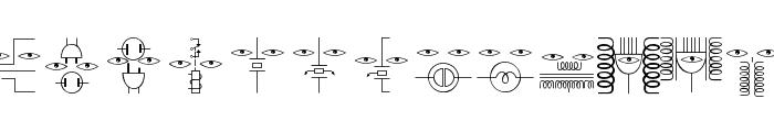 ElectronicFaces Font LOWERCASE