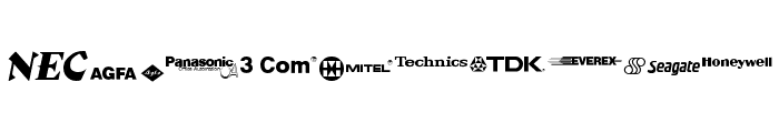 Electronics Regular Font OTHER CHARS