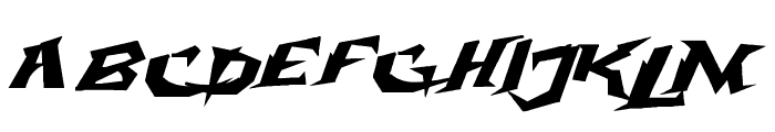 Electrox Font UPPERCASE