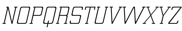ElectrumADFExp-LightOblique Font UPPERCASE