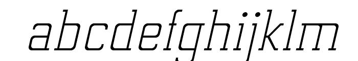 ElectrumADFExp-LightOblique Font LOWERCASE
