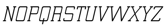 ElectrumADFExp-Oblique Font UPPERCASE