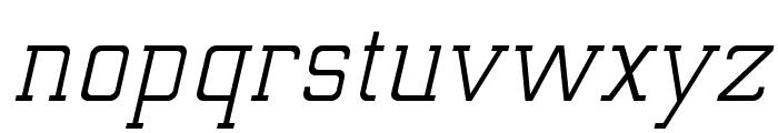 ElectrumADFExp-Oblique Font LOWERCASE
