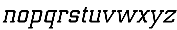 ElectrumADFExp-SemiBoldOblique Font LOWERCASE