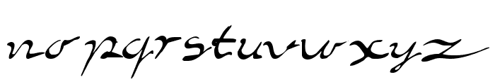 Elegant hand Script Font LOWERCASE