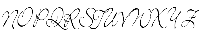 Elegant Font UPPERCASE
