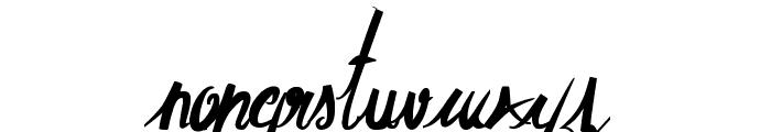 ElegantDragonBold Font LOWERCASE