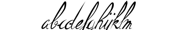 ElegantDragonItalic Font LOWERCASE