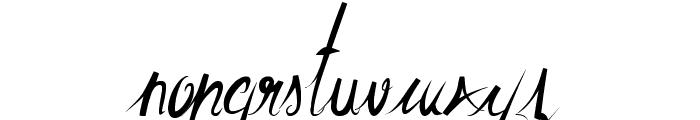 ElegantDragonRegular Font LOWERCASE