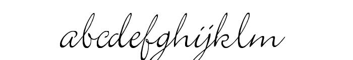 Elegant Font LOWERCASE