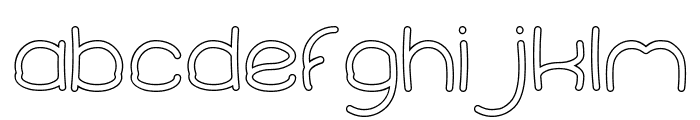Elementary-Hollow Font LOWERCASE