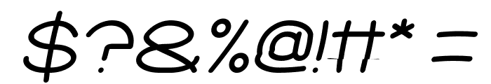 Elementary Italic Font OTHER CHARS