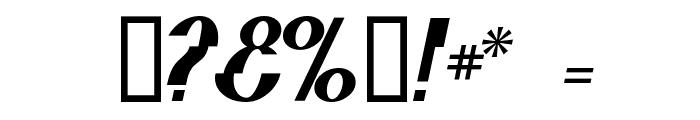 Elephant man Italic Font OTHER CHARS