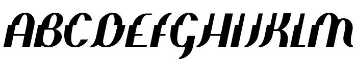 Elephant man Italic Font UPPERCASE