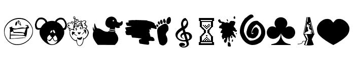 Elephants and Bears  Font UPPERCASE