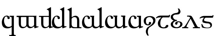 Elfic Caslin Font LOWERCASE