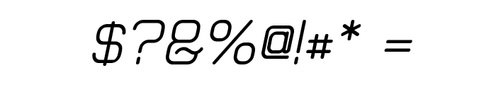 Elgethy Bold Oblique Font OTHER CHARS