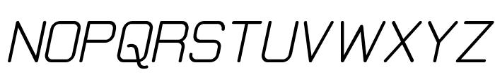 Elgethy Bold Oblique Font UPPERCASE