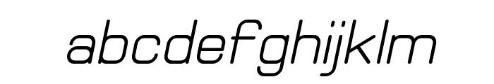 Elgethy Bold Oblique Font LOWERCASE