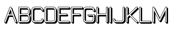 Elgethy Bold Offset Font UPPERCASE