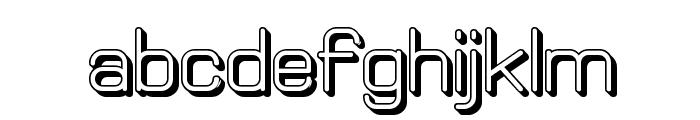 Elgethy Bold Offset Font LOWERCASE