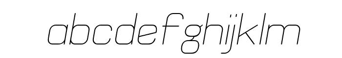 Elgethy Est Oblique Font LOWERCASE