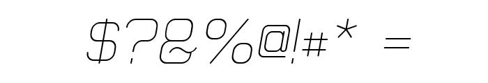 Elgethy Est Upper Oblique Font OTHER CHARS