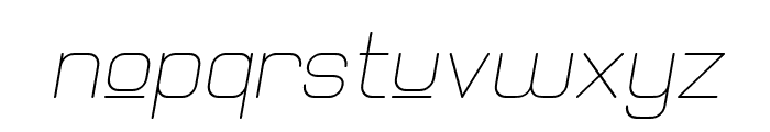 Elgethy Est Upper Oblique Font LOWERCASE